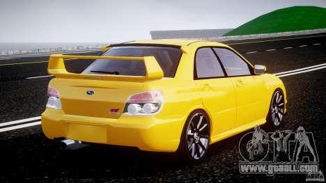Subaru Impreza STI for GTA 4 side view