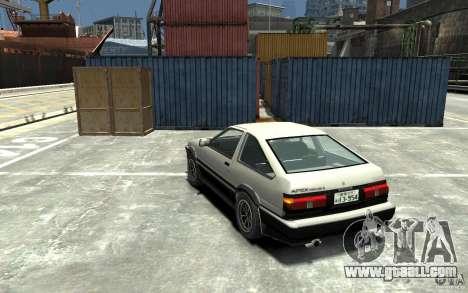 Toyota Sprinter Trueno AE86 for GTA 4 back left view