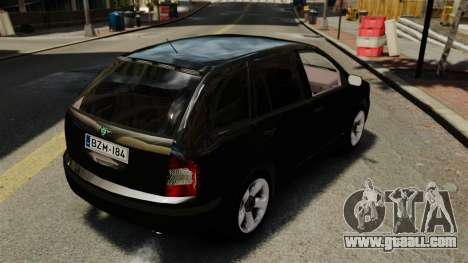 Skoda Fabia Combi Unmarked ELS for GTA 4 back view