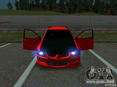 Mitsubishi Lancer Drift for GTA San Andreas inner view