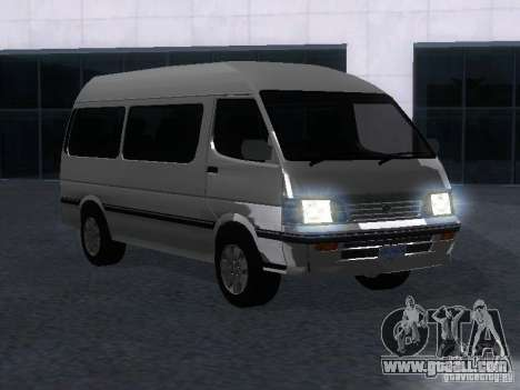 Toyota Hiace Super Custom for GTA San Andreas right view