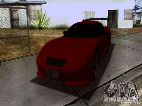Chevrolet Corvette C5 for GTA San Andreas interior