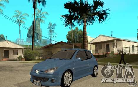 Peugeot 206 GTi - Stock for GTA San Andreas