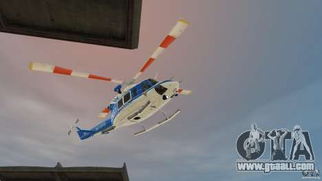 Bell412/NYPD Air Sea Rescue Helicopter for GTA 4 left view