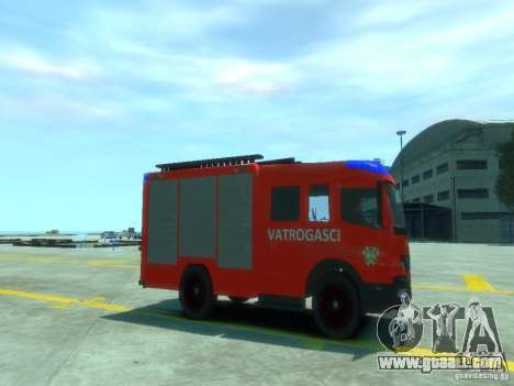Mercedes-Benz Atego Fire Departament for GTA 4 right view