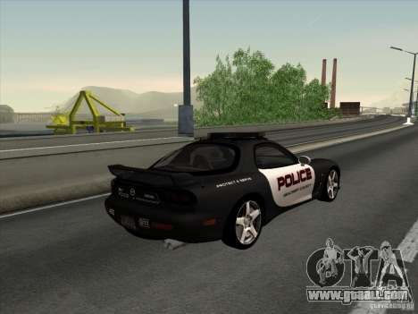 Mazda RX-7 FD3S Police for GTA San Andreas left view