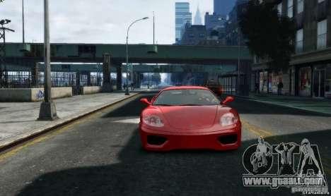 Ferrari 360 modena for GTA 4 back view