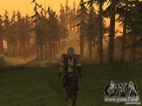Connor From ACIII for GTA San Andreas second screenshot