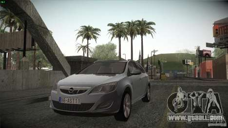 Opel Astra 2010 for GTA San Andreas inner view