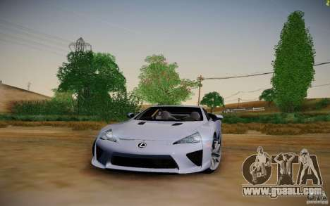 Lexus LFA for GTA San Andreas back view