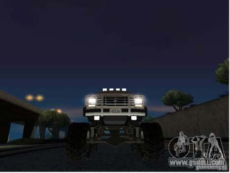 Ford Bronco IV Monster for GTA San Andreas inner view