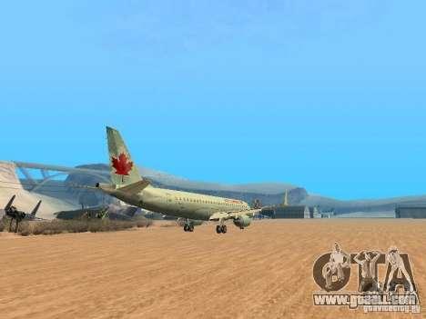 Embraer ERJ 190 Air Canada for GTA San Andreas back view