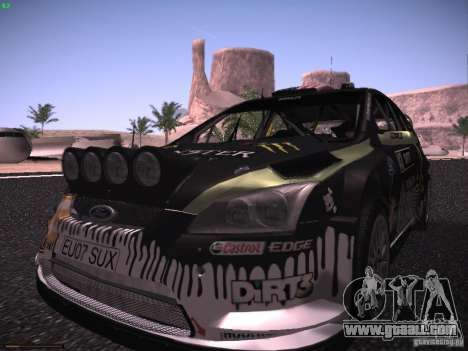 Ford Focus RS Monster Energy for GTA San Andreas back view