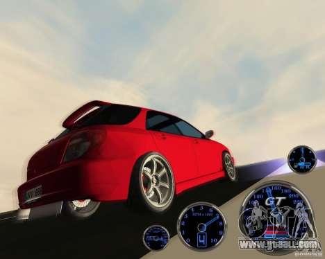 Subaru Impreza Universal for GTA San Andreas back view