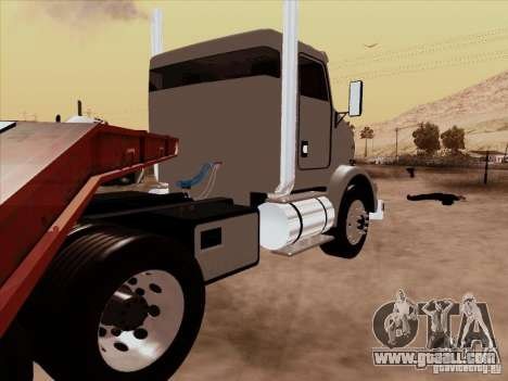 Kenworth T800 Econom for GTA San Andreas back left view