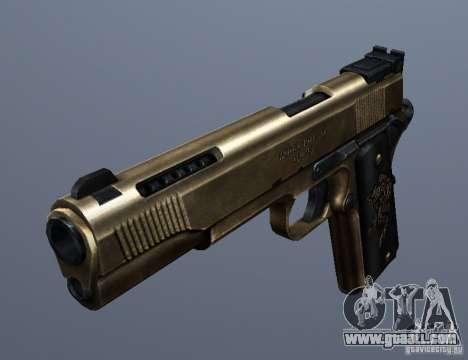 Golden 1911 for GTA San Andreas second screenshot