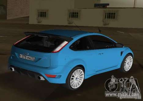 Ford Focus RS 2009 for GTA Vice City left view