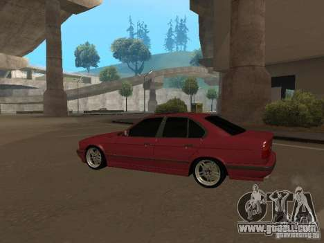 BMW E34 M5 for GTA San Andreas back left view