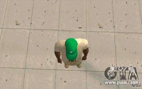 Newyorkyankiys Cap Green for GTA San Andreas third screenshot