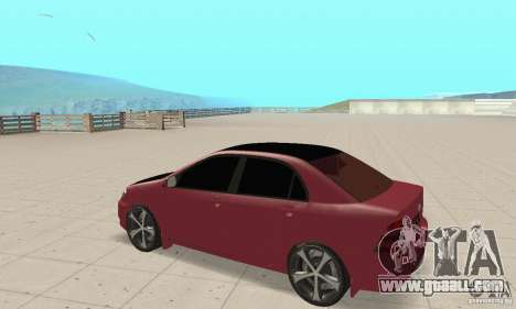 Toyota Corolla Tuning for GTA San Andreas back view