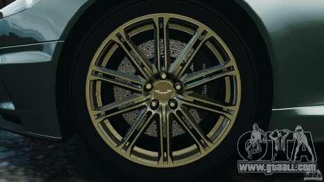 Aston Martin DBS Volante [Final] for GTA 4 upper view