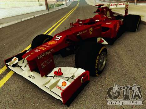 Ferrari F2012 for GTA San Andreas