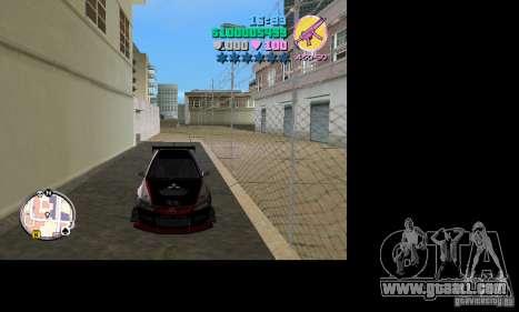 Mitsubishi Lancer Evo VIII for GTA Vice City back left view