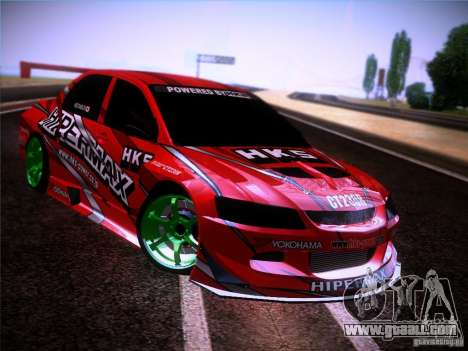 Mitsubishi Lancer Evolution 9 Hypermax for GTA San Andreas inner view