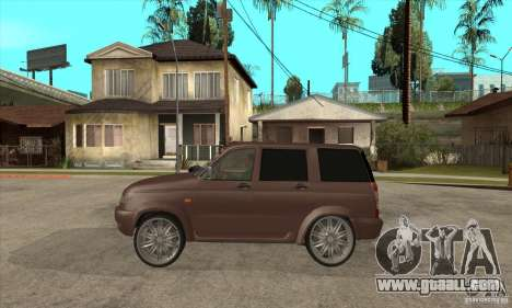 UAZ Patriot for GTA San Andreas back left view