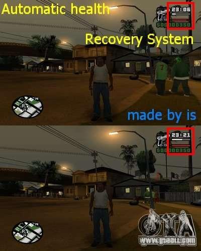 Automatic refill health. for GTA San Andreas