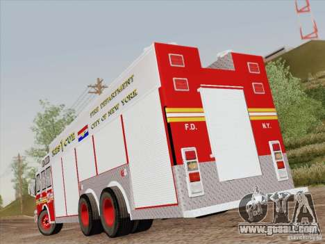 E-One F.D.N.Y Fire Rescue 1 for GTA San Andreas interior