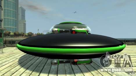 UFO neon ufo green for GTA 4 left view