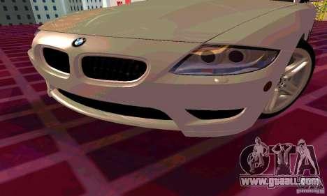 BMW Z4 E85 M for GTA San Andreas wheels