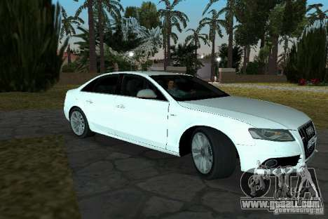 Audi S4 2010 for GTA Vice City back left view