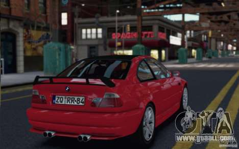 BMW M3 Street Version e46 for GTA 4 right view