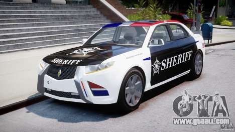 Carbon Motors E7 Concept Interceptor Sherif ELS for GTA 4 back view