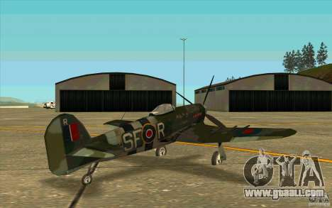 Hawker Typhoon for GTA San Andreas right view