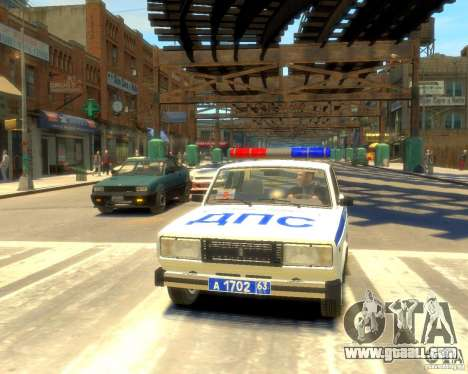 Vaz-2105 police for GTA 4 back view