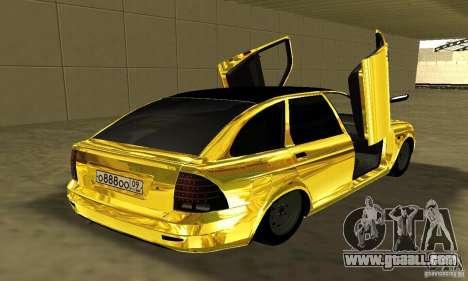 Lada Priora Gold for GTA San Andreas left view