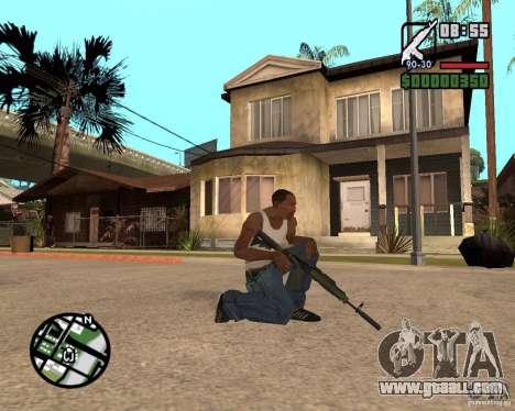 AK-47 from GTA 5 v.1 for GTA San Andreas second screenshot