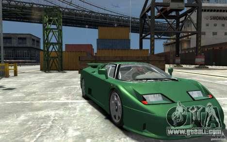 Bugatti EB110 Super Sport for GTA 4 back view