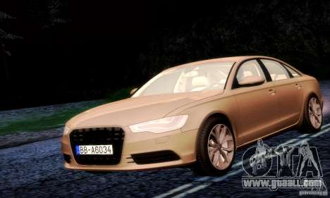 Audi A6 2012 for GTA San Andreas back view