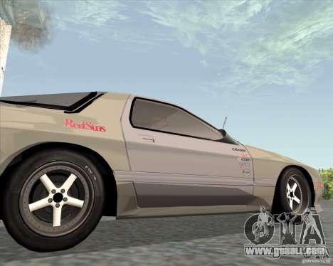 Mazda Savanna RX-7 FC3S for GTA San Andreas back view