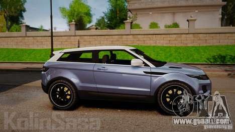 Range Rover Evoque for GTA 4 left view