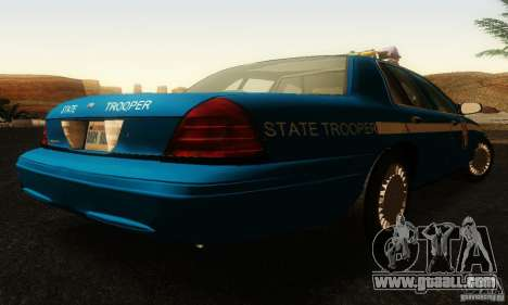 Ford Crown Victoria Wisconsin Police for GTA San Andreas left view