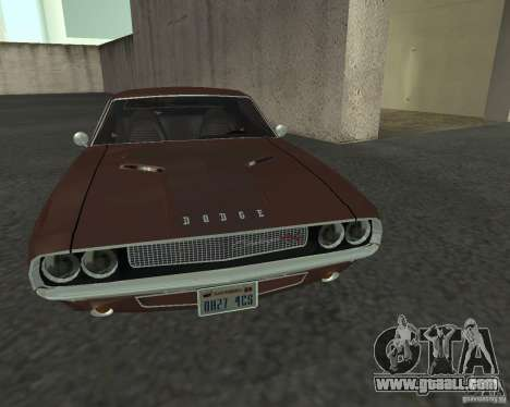 Dodge Challenger for GTA San Andreas inner view