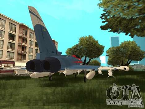 Eurofighter Typhoon for GTA San Andreas left view