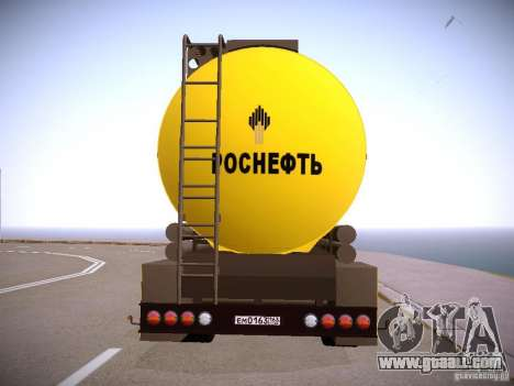 Trailer for Mercedes-Benz Actros Rosneft for GTA San Andreas left view