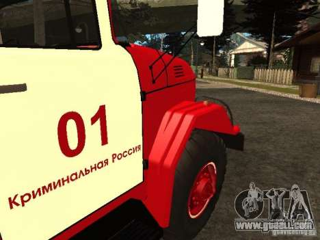 ZIL 131 fire for GTA San Andreas inner view
