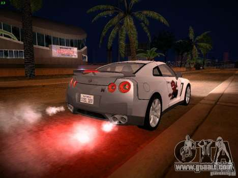 Nissan GT-R for GTA San Andreas engine